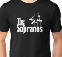 The Sopranos Logo (The Godfather mashup) (White) Unisex T-Shirt