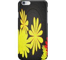 Retro flowers throw pillow iPhone Case/Skin