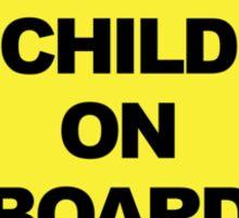 Man Child on Board Sticker