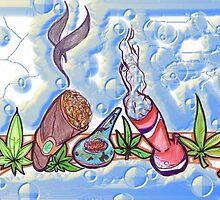 """420 TRIPLE """"Bs""""  blunts-bowls-bongs  by misterree"""