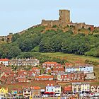 Scarborough castle by Margaret Hockney