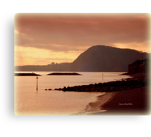 Dusk in Sidmouth Canvas Print
