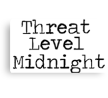 "The Office US ""Threat Level Midnight"" Canvas Print"