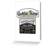 Goblin King Baby Care Services Greeting Card