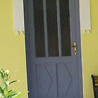 Greek Blue Door by Katter Pult
