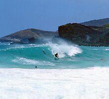 Sandy Beach Surfer by kevin smith  skystudiohawaii