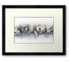 Watercolour Cityscape Framed Print