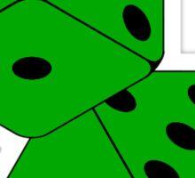 TUMBLING DICE-GREEN Sticker