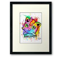 Cute Jigglypuff Watercolor Tshirts + More! Framed Print