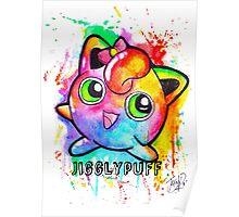 Cute Jigglypuff Watercolor Tshirts + More! Poster