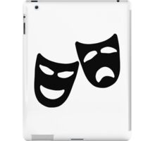 Tragedy and Comedy Masks iPad Case/Skin