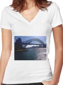 Harbour bridge  Women's Fitted V-Neck T-Shirt