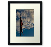 Damaged American Flag Framed Print