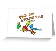 The 5 second rule Greeting Card