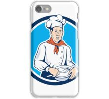 Chef Cook Holding Spoon Bowl Circle Cartoon iPhone Case/Skin