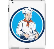 Chef Cook Holding Spoon Bowl Circle Cartoon iPad Case/Skin