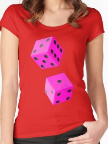 TUMBLING DICE-2 Women's Fitted Scoop T-Shirt