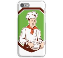 Chef Cook Holding Spoon Bowl Shield Cartoon iPhone Case/Skin