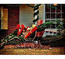 A Pause For Santa Photographic Print