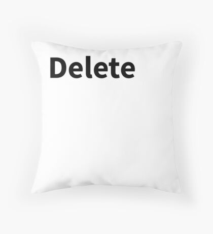 Delete Pillow | Delete Key Pillow Throw Pillow