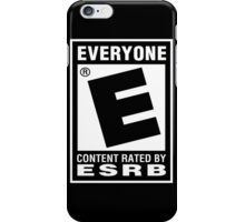 Content Rated by ESRB iPhone Case/Skin