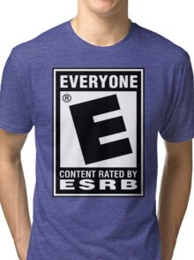Content Rated by ESRB Tri-blend T-Shirt