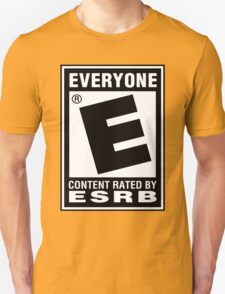 Content Rated by ESRB Unisex T-Shirt
