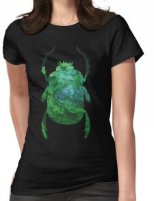 Moss On The Temple of the Stone People | Egyptian Scarab Beetles  Womens Fitted T-Shirt