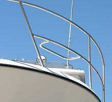 Boat against blue sky by eeek