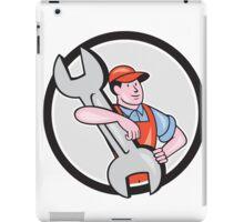 Mechanic Carry Spanner Wrench Circle Cartoon iPad Case/Skin