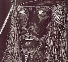 GHOST CAPTAIN, Johnny Depp by Dawn B Davies-McIninch