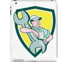 Mechanic Carry Spanner Wrench Shield Cartoon iPad Case/Skin