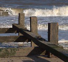 Breakwater at Gorleston on Sea, Norfolk by eeek