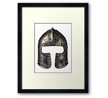 Medieval Armour Helmet Framed Print