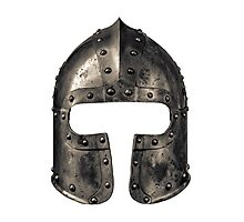 Medieval Armour Helmet Photographic Print