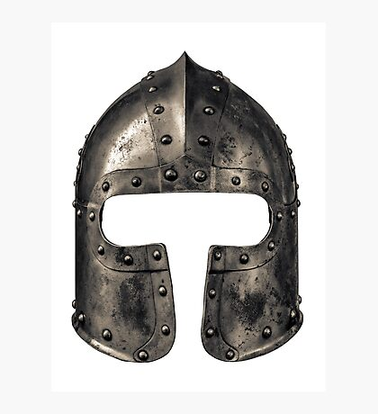 Medieval Armour Helmet Photographic Print