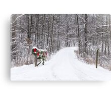 Welcome Home Christmas - Allen County, Indiana Canvas Print