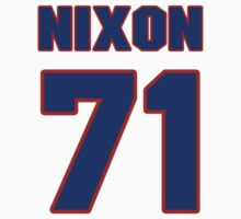 National football player Xavier Nixon jersey 71 by imsport