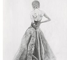 Sketched Flowing Dress by Mira Dayal