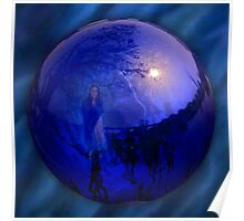 The Gazing Ball Poster