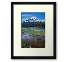 Mount Rainier View from Reflection Lakes Framed Print