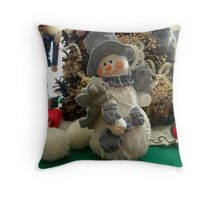 The Holiday Snowman Throw Pillow