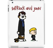 Sherlock Hobbes and John Calvin iPad Case/Skin