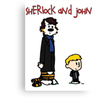Sherlock Hobbes and John Calvin Canvas Print
