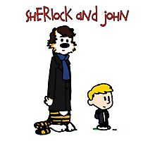 Sherlock Hobbes and John Calvin Photographic Print