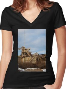 Mining Equipment and Conveyors 2 Women's Fitted V-Neck T-Shirt
