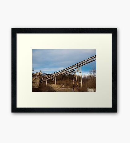 Mining Equipment and Conveyors 3 Framed Print