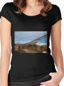 Mining Equipment and Conveyors 3 Women's Fitted Scoop T-Shirt