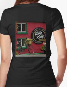 Kitty Kelly's restaurant, Donegal - wide Womens Fitted T-Shirt