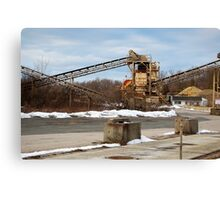 Mining Equipment and Conveyors Canvas Print